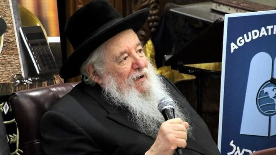 Agudath Israel of America Rabbi Yaakov Perlow, 89, dies after contracting COVID-19