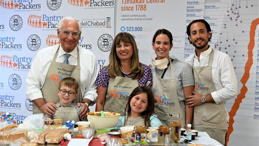 US Ambassador Friedman helps make cheesecakes for Israelis ahead of Shavuot