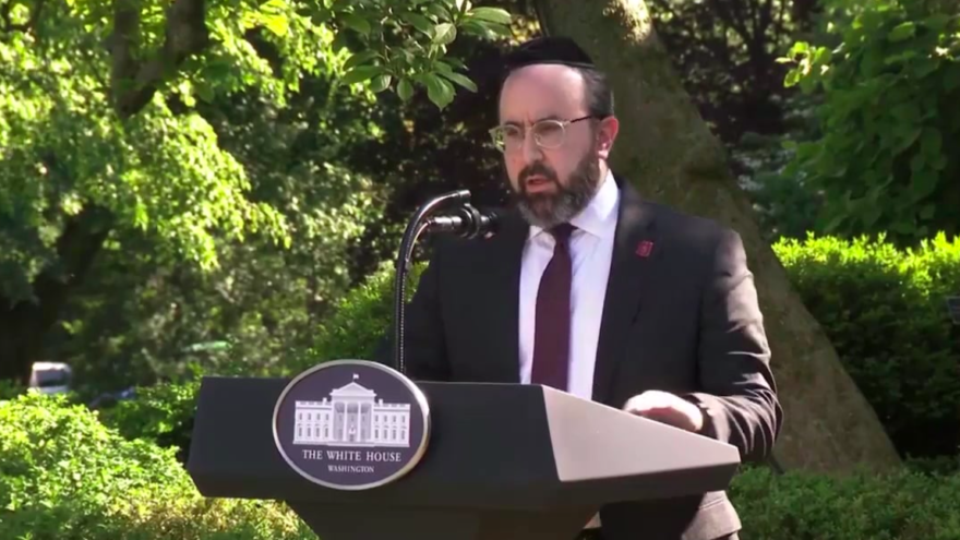 Agudath Israel rabbi offers inspiration at White House National Prayer Service
