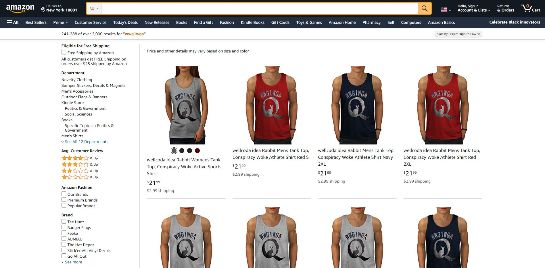 Amazon must stop profiting from QAnon!